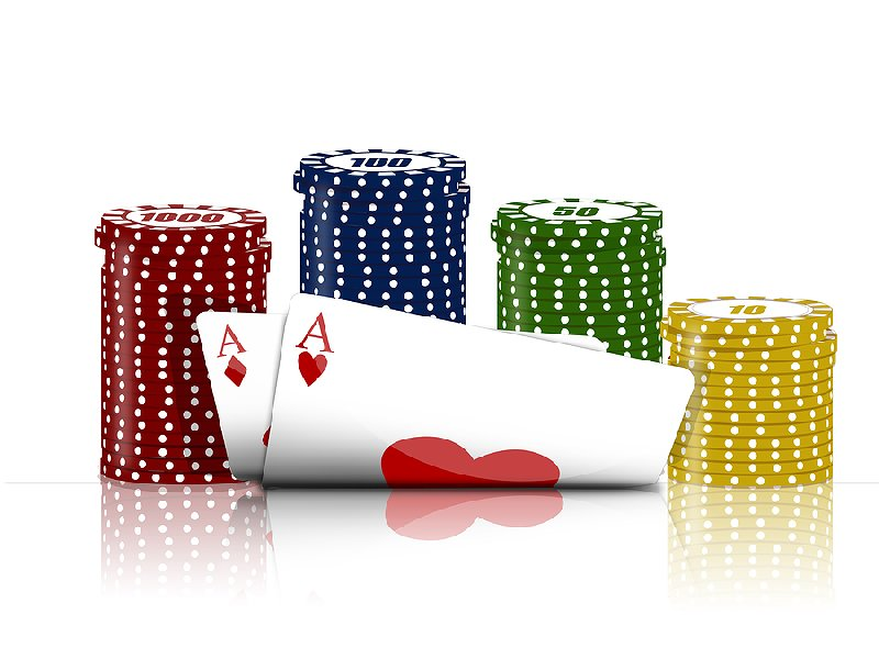 Pokerkort och spelmarker